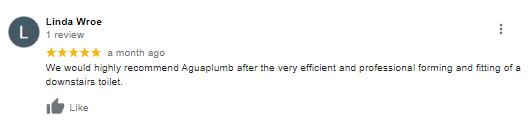 Aguaplumb UK 5 star review